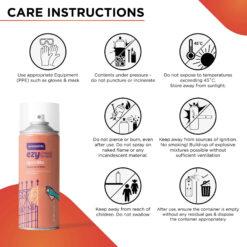 Asian Paints ezyCR8 Apcolite Enamel Paint Spray Deep Orange 200ml