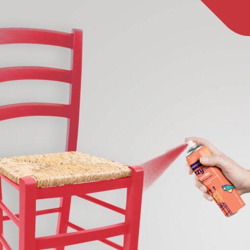 Asian Paints ezyCR8 Apcolite Enamel Paint Spray Signal Red (Red) 200ml